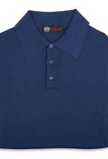 Cashmere / Silk Polo Sweater, Royal Blue