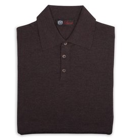 Cashmere / Silk Polo Sweater, Bark