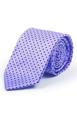 Pure Silk Tie, Printed Satin with diamond pattern, Purple, Black, Gray