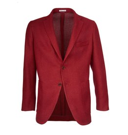 Unlined Tweed Jacket, Red