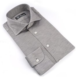 Jersey Knit Cotton Shirt, Gray