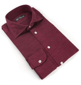 Jersey Knit Cotton Shirt, Berry