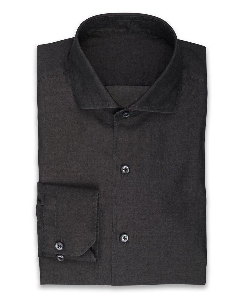 Handmade Fine Denim Shirt, Charcoal