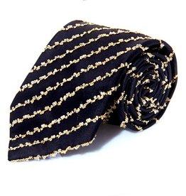 Black Tie with Gold Lamé Thread