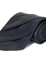 Black Wide Pleated Silk Tie