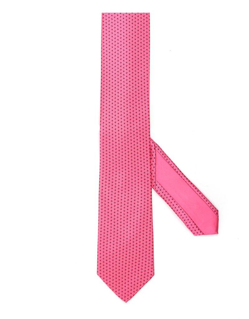 Pink Check Tie