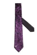 Formal Tie with Free Pattern Sequin, Purple and Black