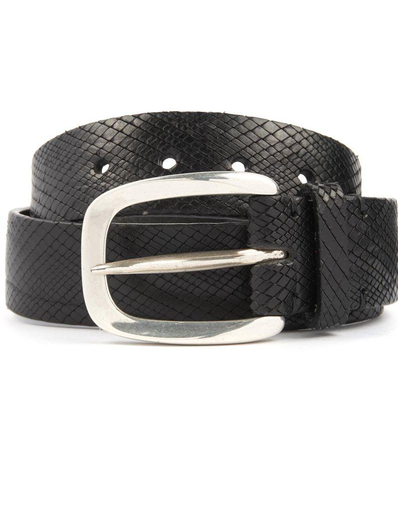 Blade Cross Cut Leather Belt