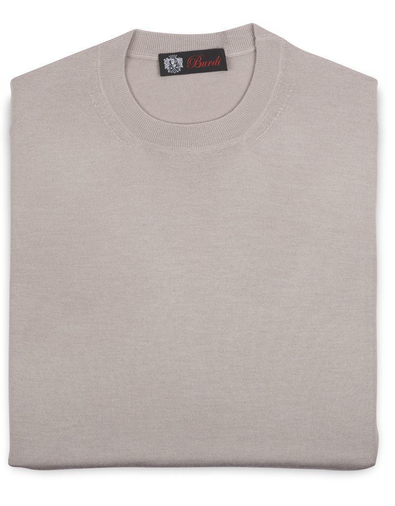 Cashmere / Silk Crew Neck Sweater, Beige