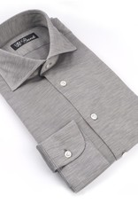 Jersey Knit Cotton Shirt, Gray