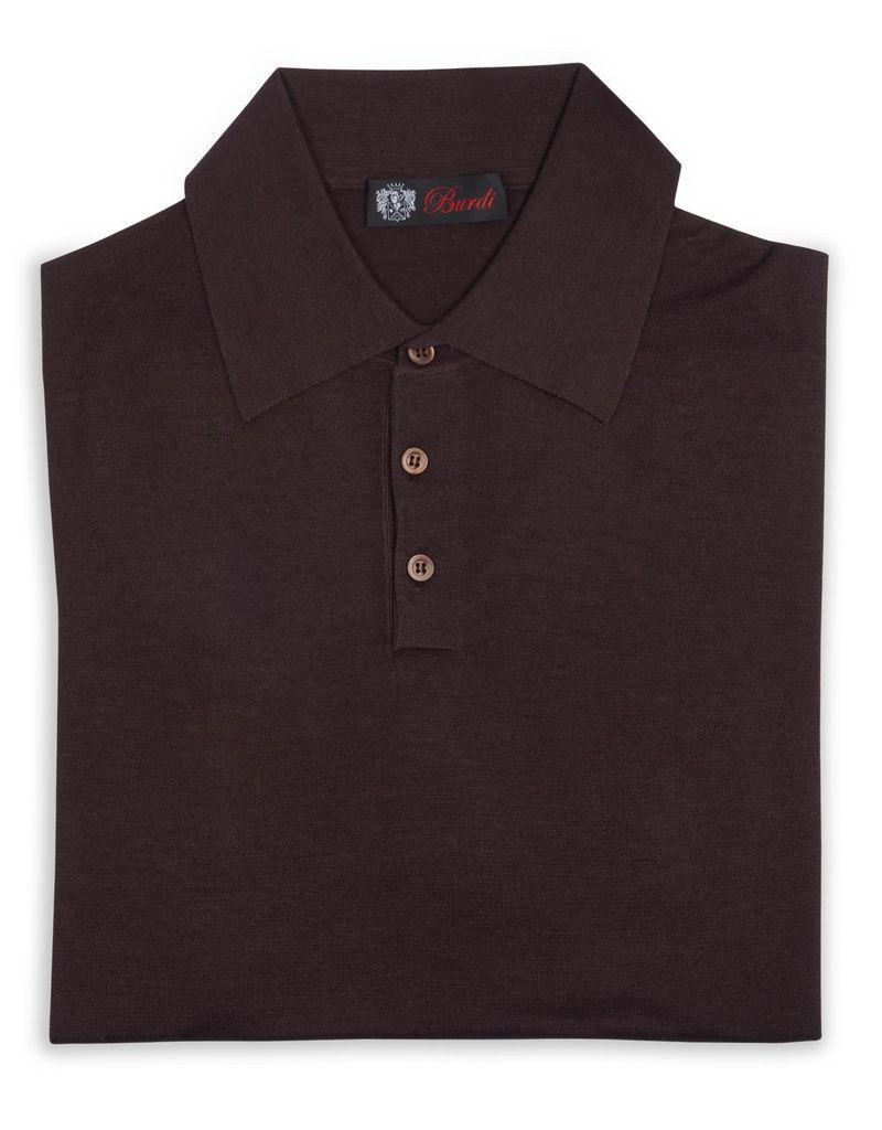Cashmere / Silk Polo Sweater, Brown