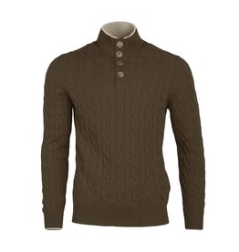 Cable Knit Sweater - Brown