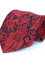 Black & Red Paisley Seven Fold Silk Tie