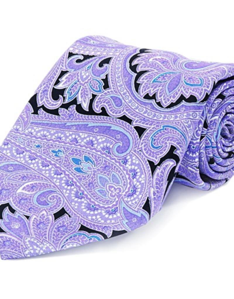Purple Paisley Seven Fold Silk Tie