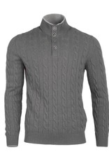 Cableknit Sweater - Gray