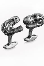 Oxidised Sterling Silver Hinged Dinosaur head Cufflinks