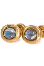 Labradorite Gold Oval cufflinks