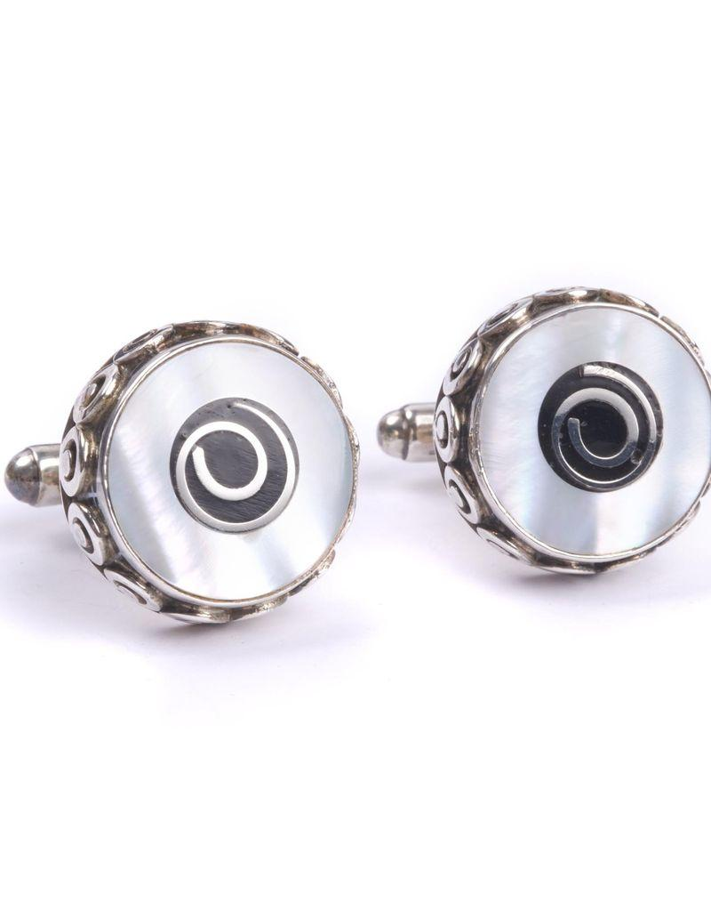 Mother of Pearl with Onyx Cufflinks