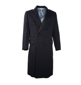 Navy Cashmere Coat