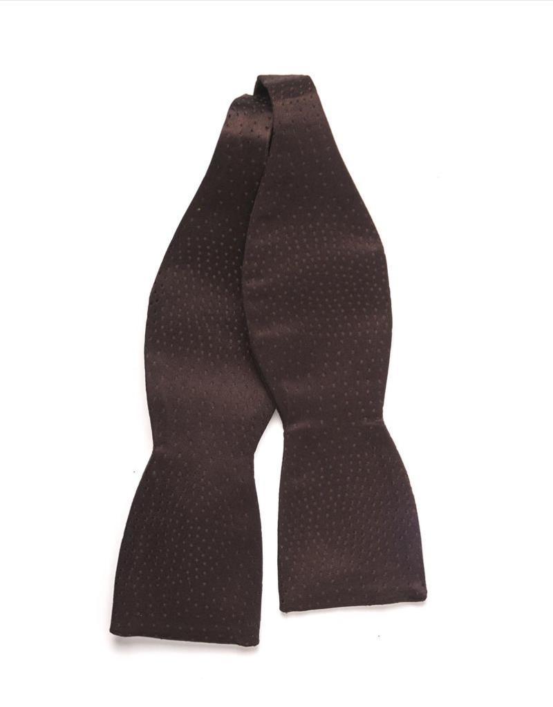 Brown Self-tie Silk Bow Tie