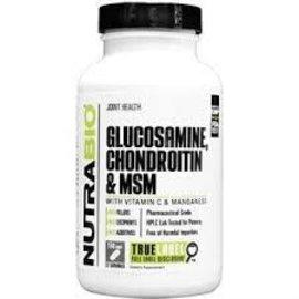 NUTRABIO Glucosamine, Chondroitin & MSM