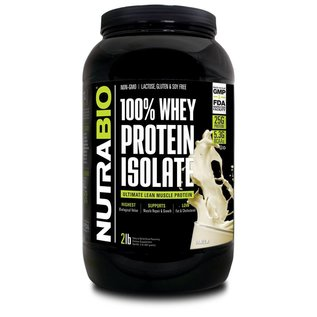 Nutrabio 100% Whey Protein Isolate