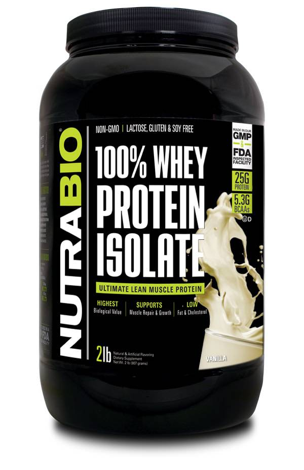 Nutrabio 100% Whey Protein Isolate - Philly Gainz