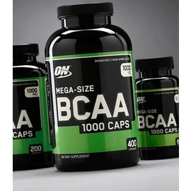Optimum Nutrition Mega-Size BCAA 1000 Caps (200 Servings)
