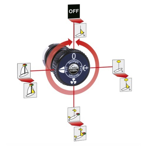 Aqua Signal Nav-Switch - Multi-Light Switch for Navigation Lights