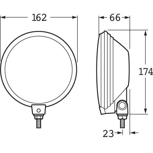 hella comet 500 series 100w driving lamp kit