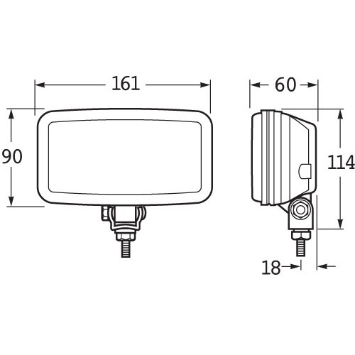 hella comet 450 series 100w driving lamp kit