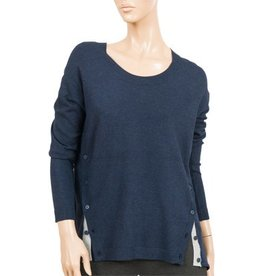 CYC Women's Rnd Nk w Buttons on Sides FA17
