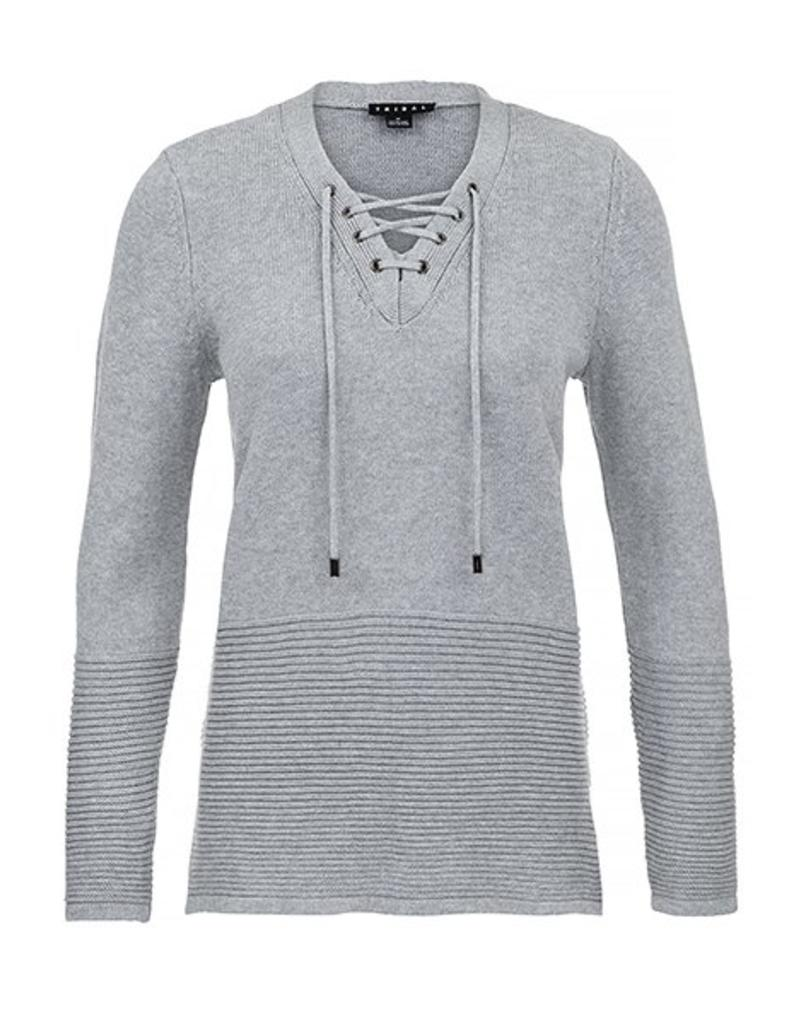 Tribal Women's L/S Lace Up Sweater Fa17