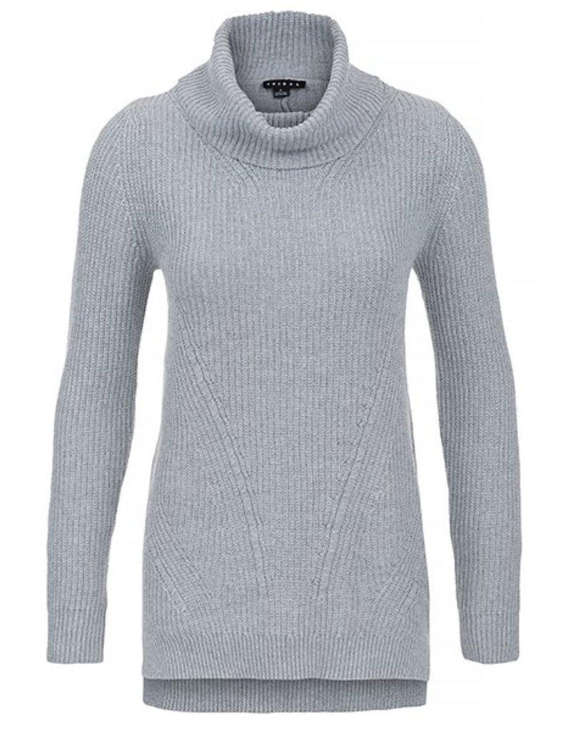 Tribal Women's L/S Cowl Nk Sweater Fa17