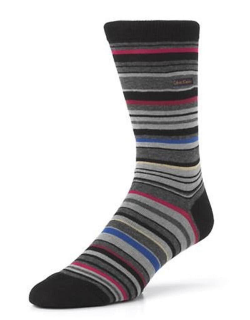 McGregor Socks Men's Barcode Multi Stripe Emb Size 7-12