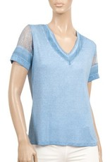 CYC Women's V Neck Lace Cap Sleeve - SP18