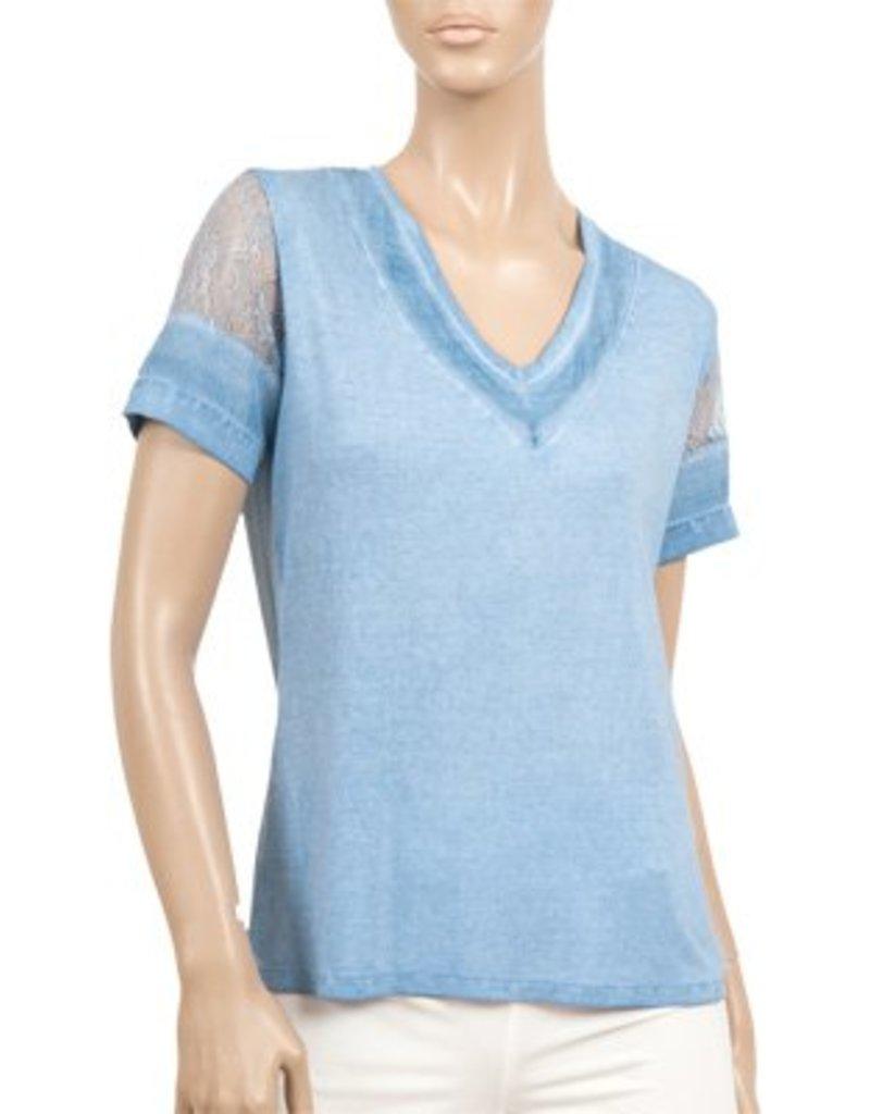 CYC Women's V Neck Lace Cap Sleeve - SP18