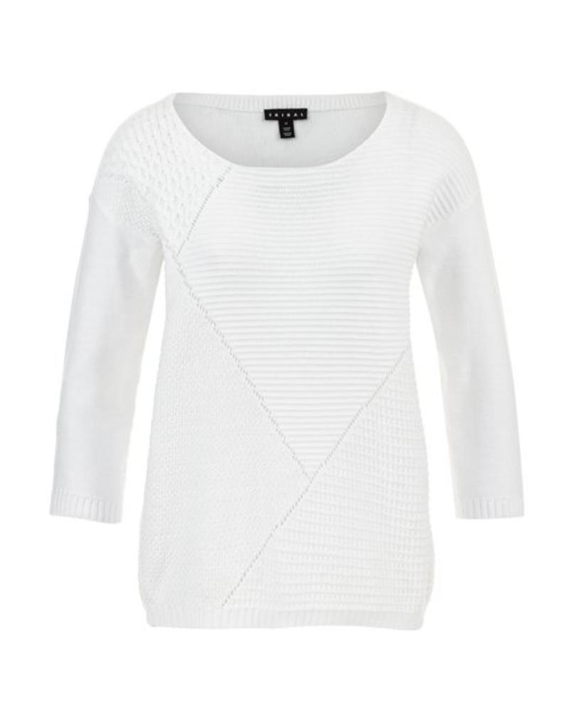 Tribal 3/4 Sleeve Sweater- SP18