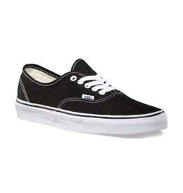 Vans Women's Authentic Black on White - FA18