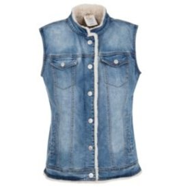 Tribal Reversible Jean Vest - FA18