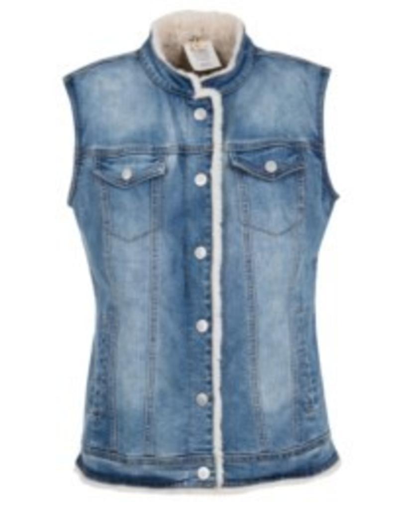 Tribal Reversible Jean Vest - FA18