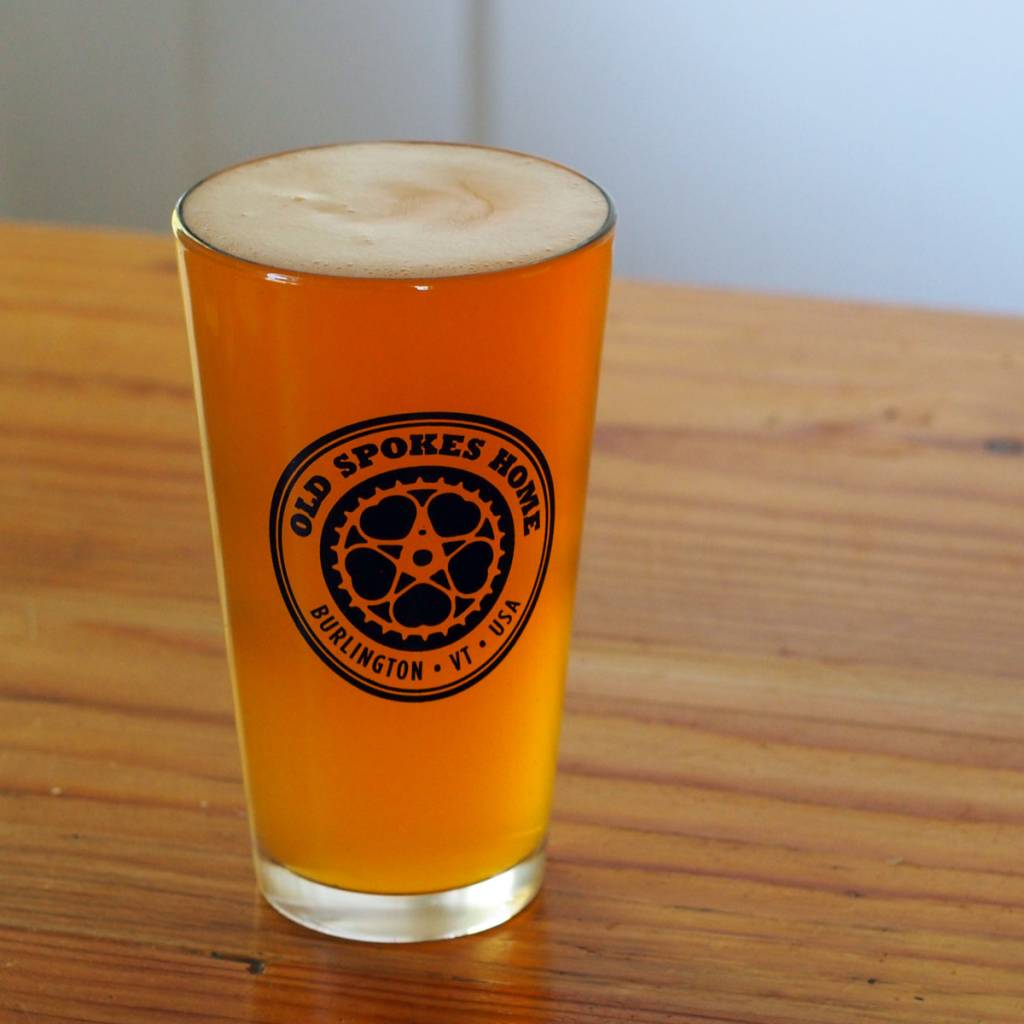 Old Spokes Home Pint Glass // We can get there by bike.