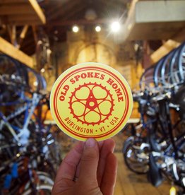 Old Spokes Home Jumbo Sticker