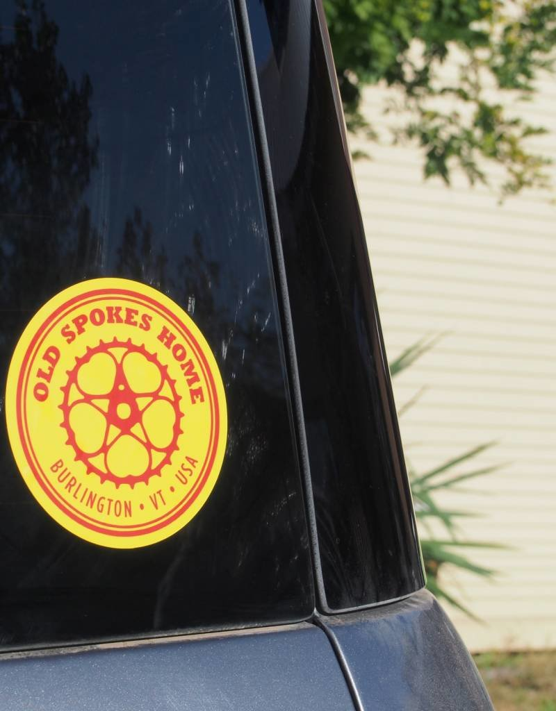 "Old Spokes Home 4"" Old Spokes Home Sticker"