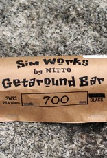 SimWorks SimWorks by Nitto Getaround Bar CrMo 25.4mm 700mm 20 Degree Black
