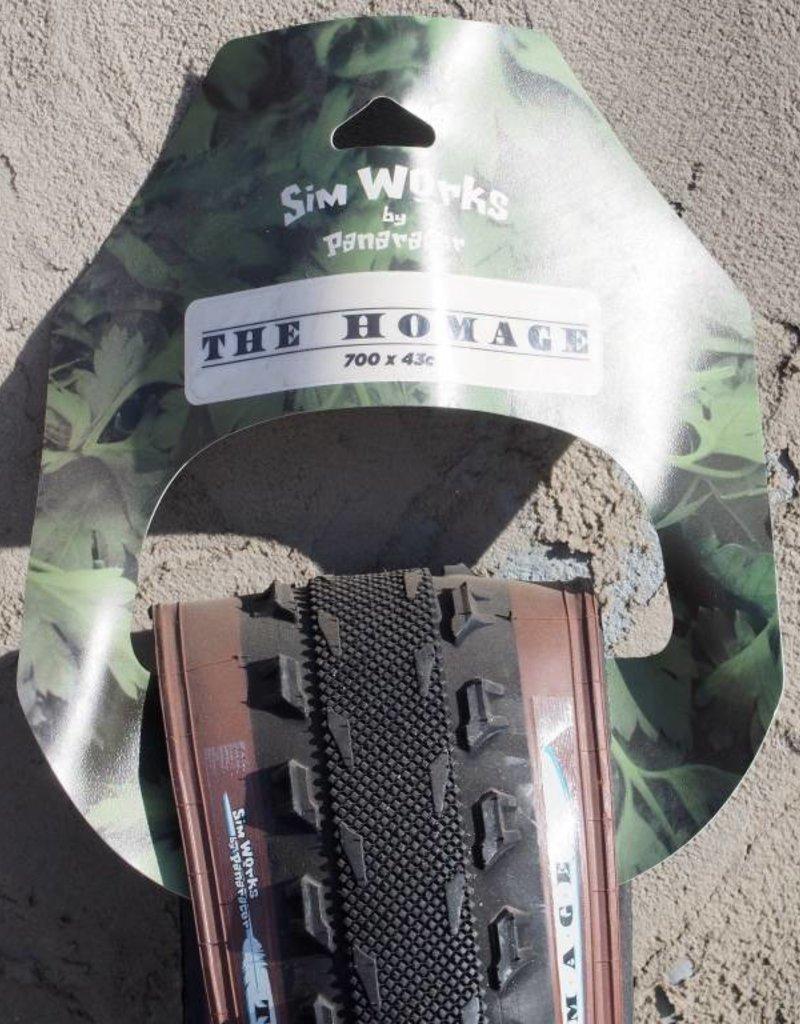 "SimWorks SimWorks by Panaracer ""The Homage"" 700c x 43mm Black/Brown Folding Tire"