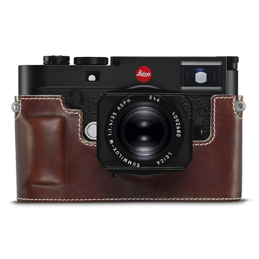 Camera Protector - (Half Case) Leather Vintage Brown M10