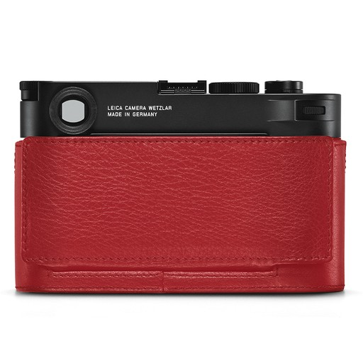 Camera Protector - (Half Case) Leather Red M10