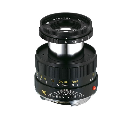 90mm / f4.0 Macro Elmar Set w/Macro Adapter & Angle VF (E39) (M)