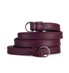 Strap: Traditional Bordeaux Nappa w/ Neck Pad